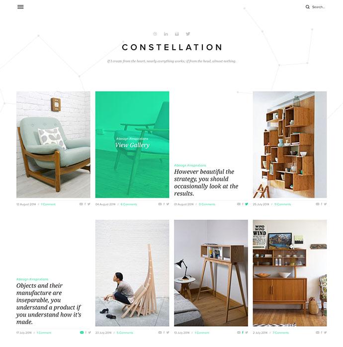 Constellation - Tumblr Free PSD Template