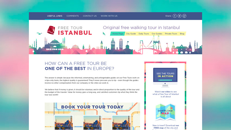 Walking Tour Website