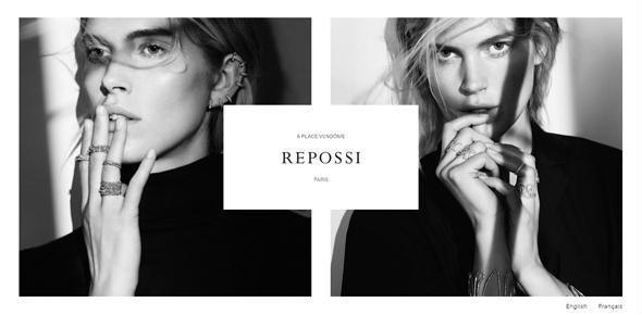 Repossi light website designs white space