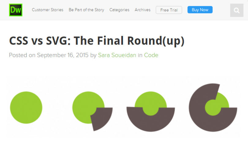 CSS Vs SVG: The Final Round(up) by Adobe Dreamweaver Team Blog