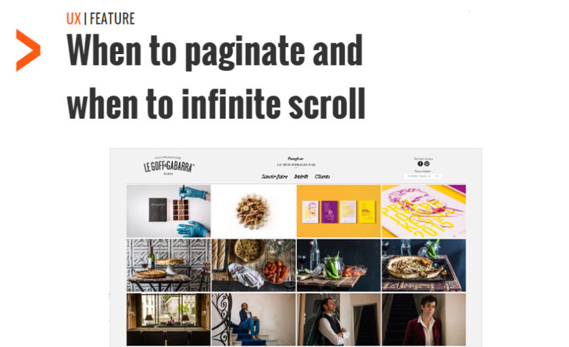 When to Paginate and when to Infinite Scroll