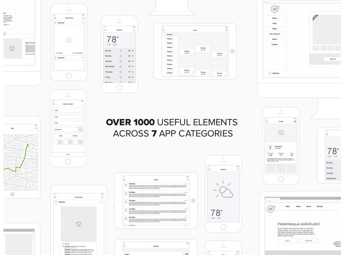 20 Templates For Creating High-Fidelity Wireframes