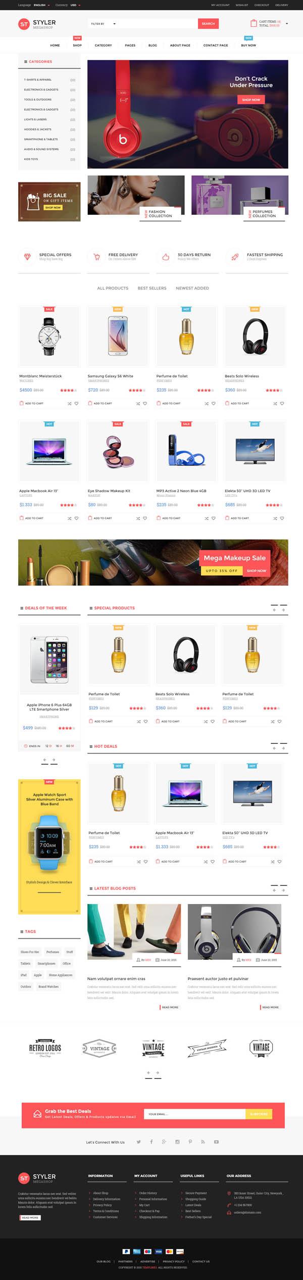 Styler Mega Shop - HTML Template