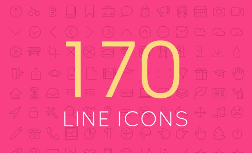 170 Miscellaneous Line Icons Set