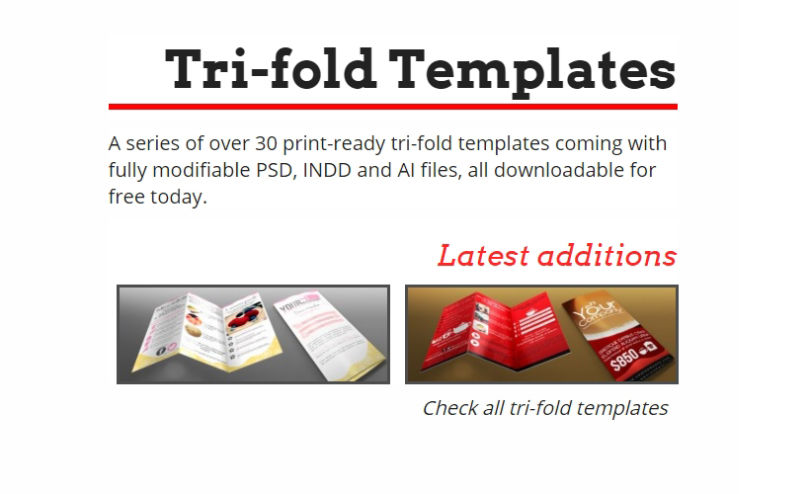 20 Free Print Templates for Advertising Tri-folds