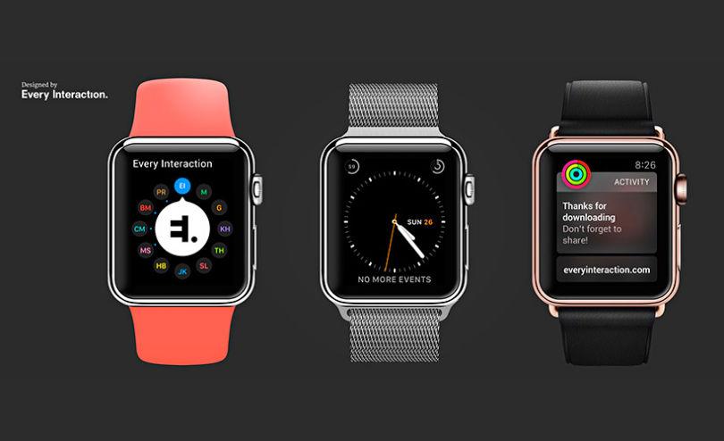 Apple Watch PSD Vector Mockup