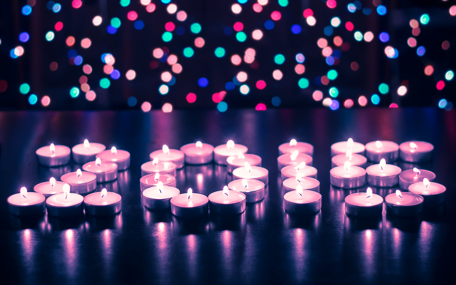 Happy New Year 2015 - festive candles