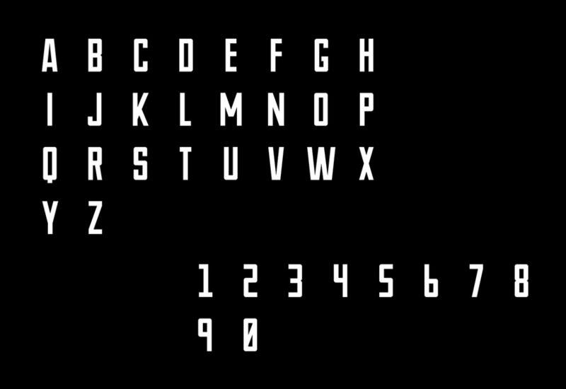 Novu-M: Narrow Futuristic Typeface