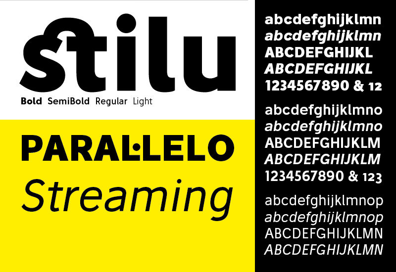 Stilu: Sans Serif Typeface Family