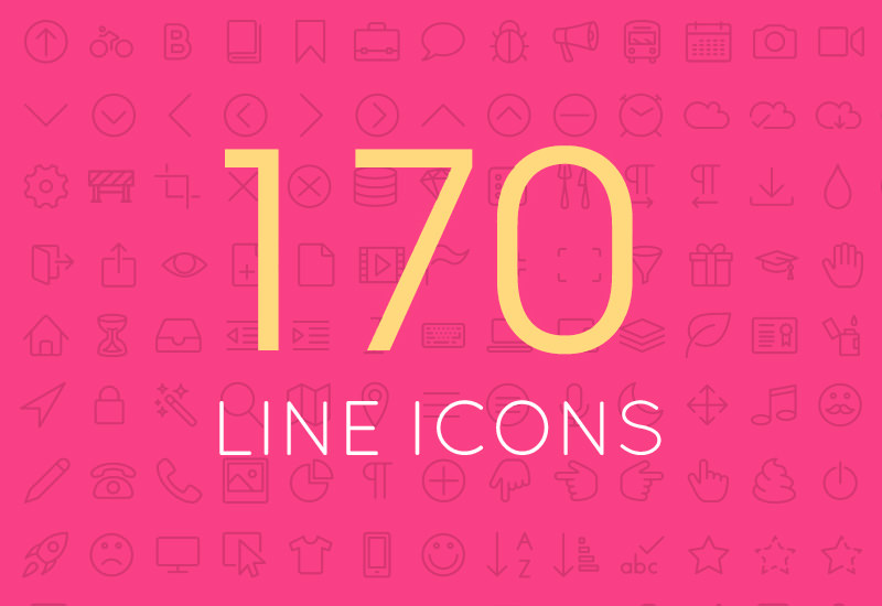 170 Miscellaneous Line Icons Set