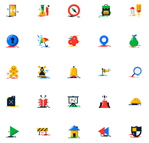 Blobs: Flat Colorful Icons Pack