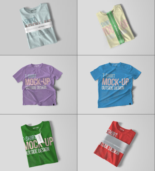 T-Shirt PSD Mockups Set