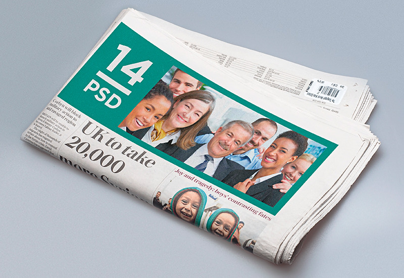 Newspaper Design Inclusion Mockup
