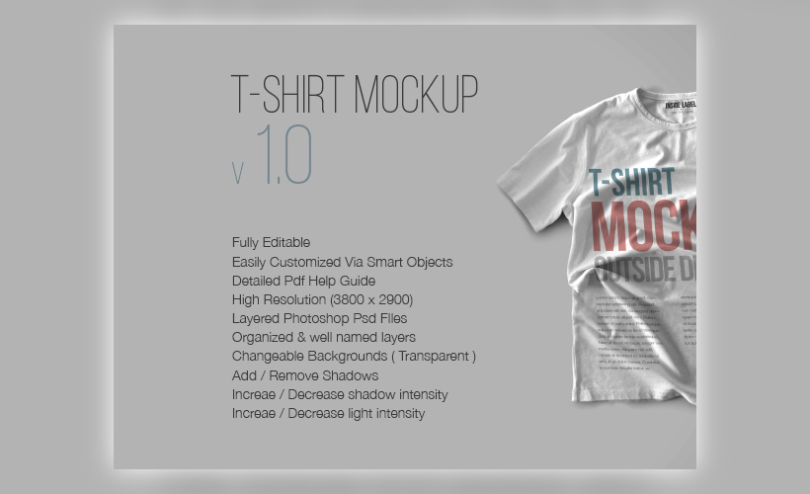 10 T-Shirt Mockups Set