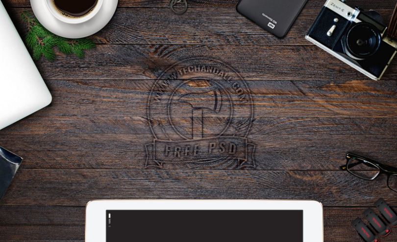 My Desk: 50 Desktop Elements Mockup Set