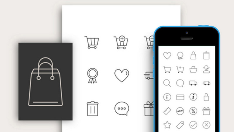 Responsive eCommerce Icon Set