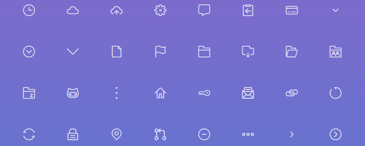 twig Simple Open-Source Lineart Iconset