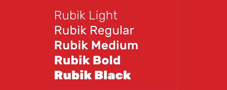 Rubik Slightly Rounded Heavyweight Font