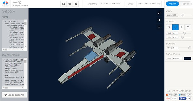 Tridiv useful css3 editor for 3d objects idevie for 3d object editor