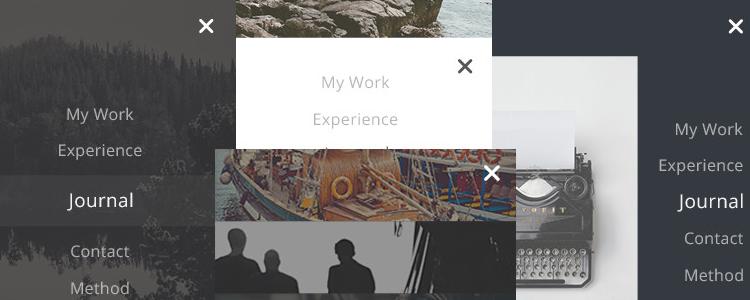 UI for Mobile Menus