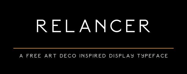 Relancer Art Deco Display Typeface