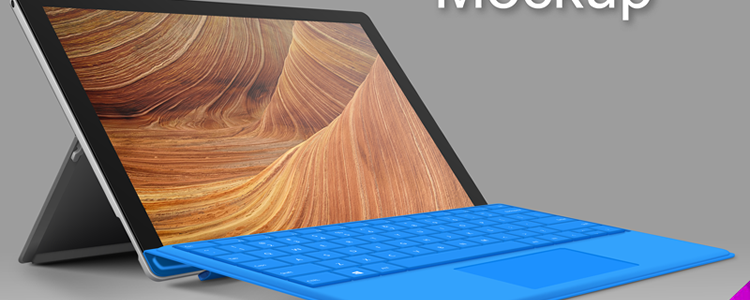 Surface 4 Pro Tablet Mockup
