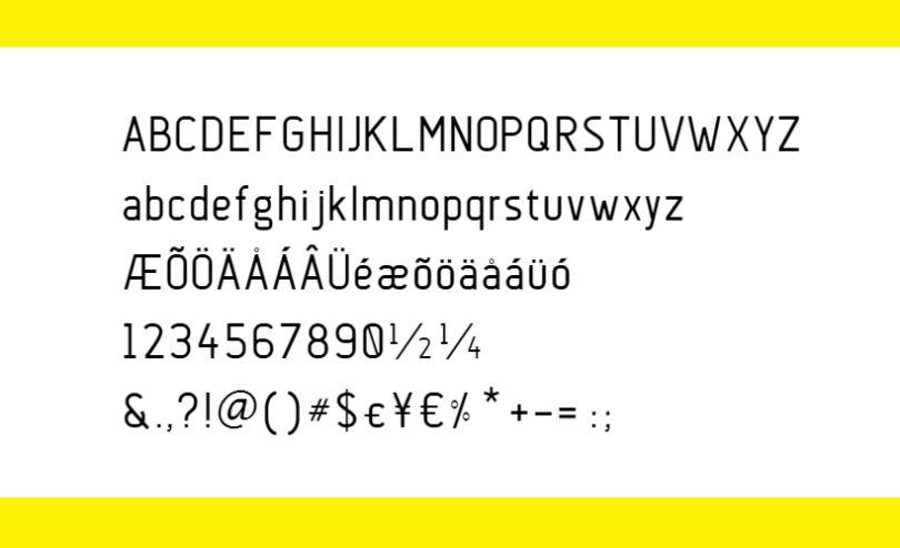Anson: Aircraft-inspired Sans Serif Font