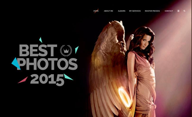 Photographer Website PSD Template
