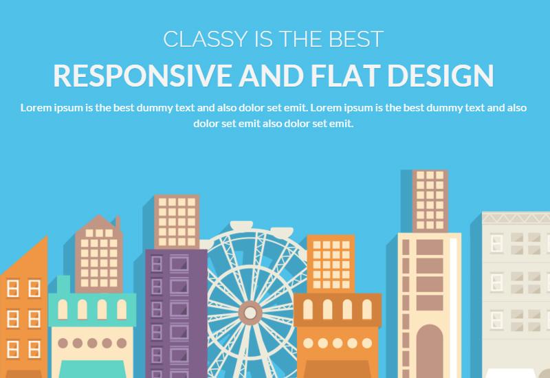 ClassyLite: Flat Business WordPress Theme