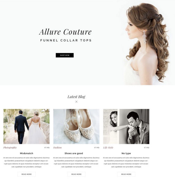 Wedding Dress ECommerce Web Template