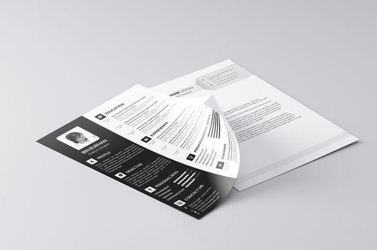 14 free simple resume psd mockups  u0026 templates