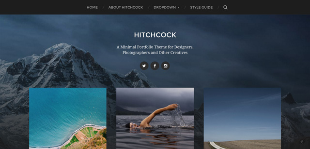 Free WordPress Themes: Hitchcock