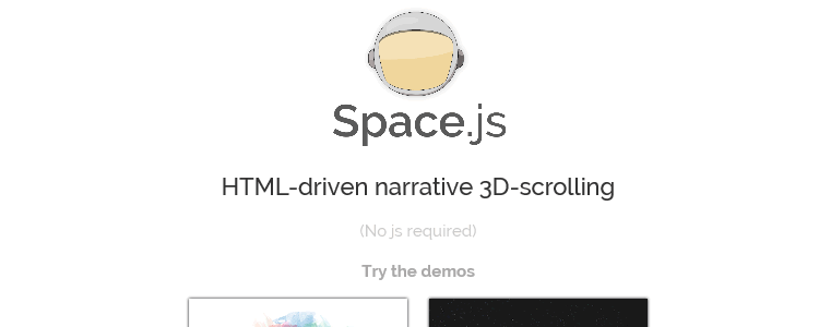 Space.js an HTML-driven JavaScript library for narrative 3D-scrolling