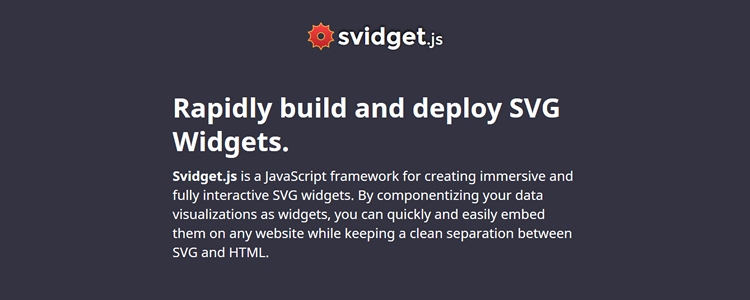 Svidget.js - JavaScript framework for building fantastic SVG widgets