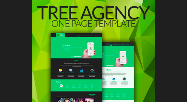 Tree Agency: One-page Flat Template