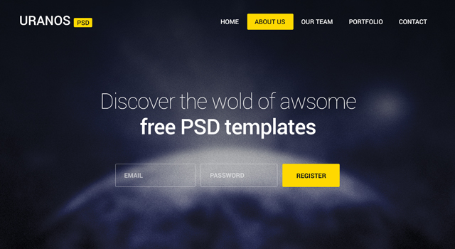 Uranos: Agency Website PSD Template
