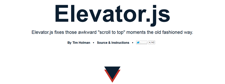 "back to top"" button that behaves like a real elevator"