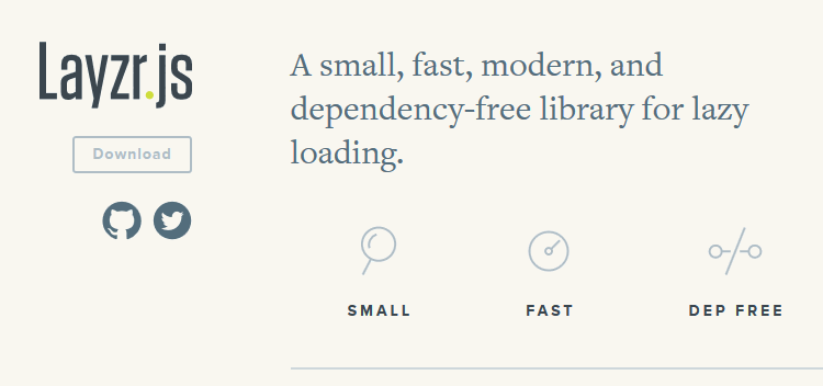 Layzr.js - small, fast, modern, and dependency-free library for lazy loading