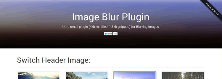 Image Blur Plugin an ultra light cross browser image blurring plugin for jQuery