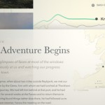 Animated Map Path for Interactive Storytelling