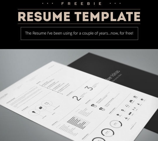 14 Free Simple Resume PSD Mockups & Templates