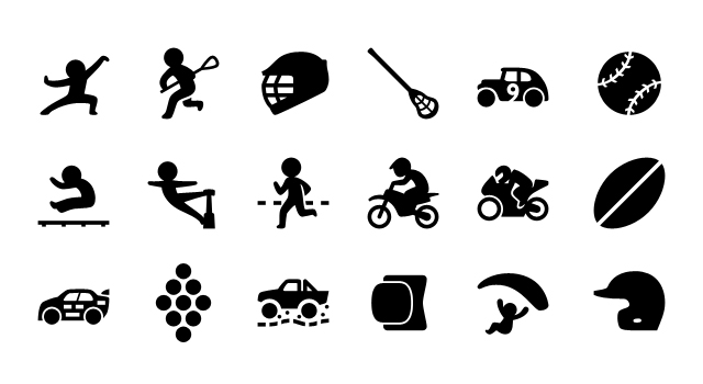 5.8K iPhone Sport Vector Icons
