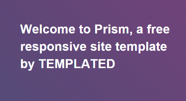 Prism: Multipurpose Clean HTML Template