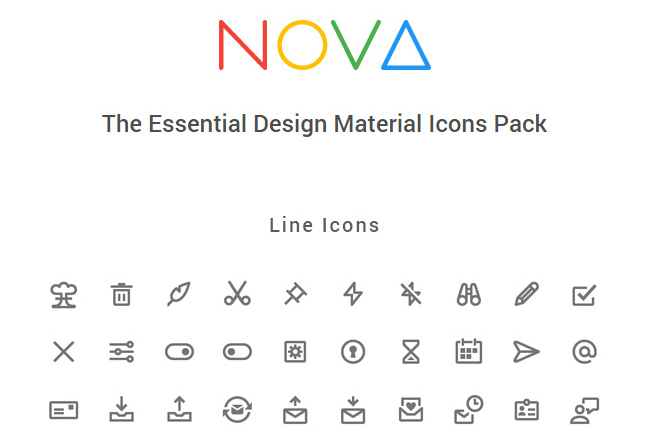 Nova-350-Material-Style-Icons