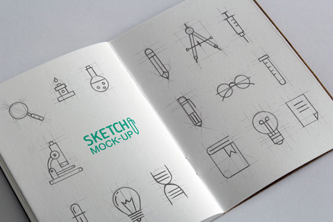 Sketchbook-MockUps-PSD-#2