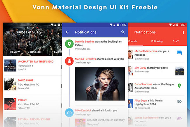 Vonn-Material-Design-UI-Kit-–-Free-Sample