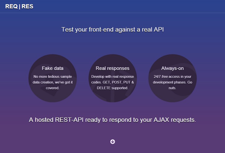 ReqRes – A Hosted REST-API for Your AJAX requests.