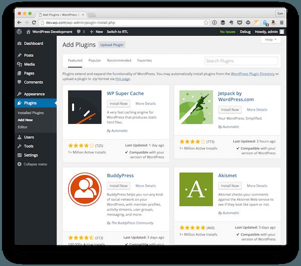 Finding WordPress Plugins
