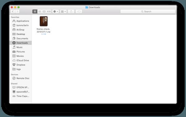 Theme Check Zip File