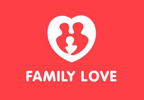 Family Love Logo Template